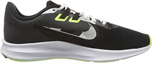 Nike Downshifter 9, Zapatillas para Correr para Hombre, Black White Particle Grey Dk Smoke Grey Ghost Green Sapphire, 40 EU