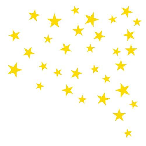 jieGorge Pegatinas de Pared de Estrellas de tamaño Mixto, calcomanía para niños,...