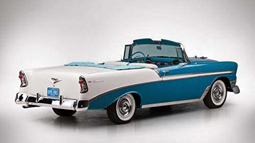 1956 Chevrolet Bel Air Convertible V3 - Canvas Art Print - Muurdecoratie - Canvas Wrap