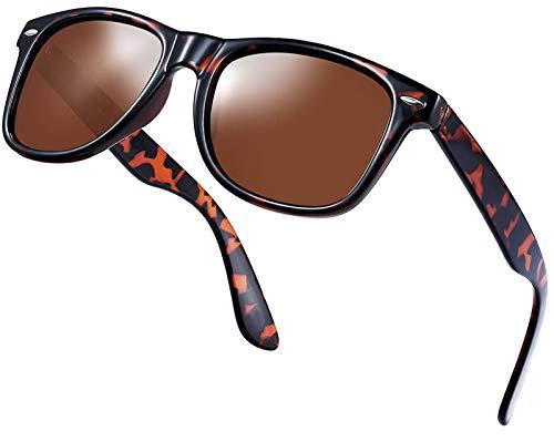 Perfectmiaoxuan Gafas de sol polarizadas Hombre Mujere Retro/Aire libre Deportes Golf Ciclismo Pesca Senderismo 100% protección UVA gafas unisex golf conducción Gafas gafas de sol (D/Leopard)