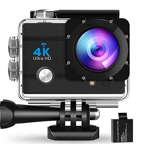 Varietex 4K Action Camera Ultra HD 170D Wide Angel Go Waterproof Pro Sports Video 1080 Camera, Dual 2 Inch LCD 16 MP Image Sensor 170 Wide-Angle Lens