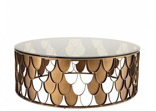 Casa Padrino Art Deco Designer Couchtisch Antik Kupfer - Wohnzimmer Salon Tisch Möbel