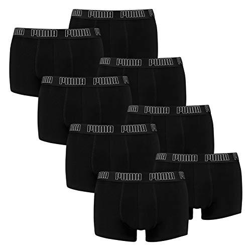 PUMA Herren Basic Trunk Boxershort 8er Pack Black (001) Größe:L