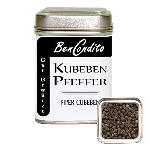 BenCondito - Kubebenpfeffer - schwarze ganze Pfefferkörner (Langschwanzpfeffer) 70g Dose