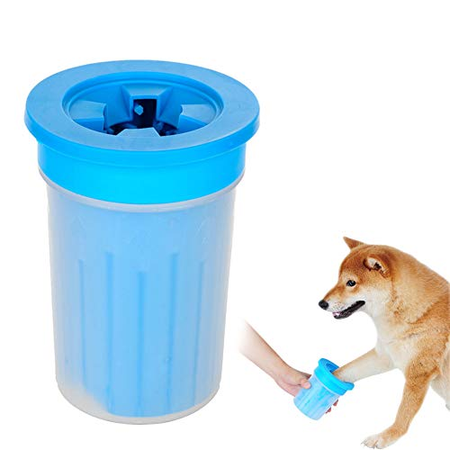 MKDcom Portable Dog Paw Cleaner - Soft Silicone Pet Feet Washer Prevent Splash Pet Cleaning Brush...