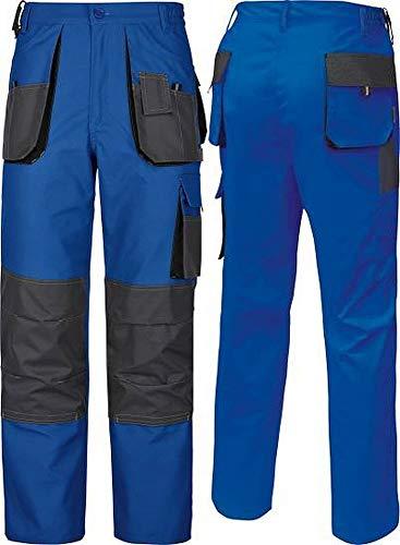 TRIUSO Arbeitshose, Arbeitsbundhose,Power 270 blau-grau Canvas-Gewebe Männerhose (54, blau-grau)