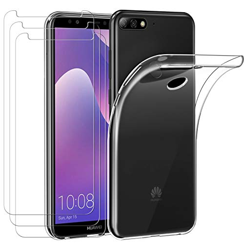 ivoler Funda para Huawei Y7 2018 / Huawei Honor 7C, con 3...