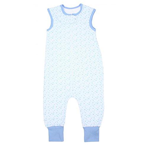 TupTam TupTam Unisex Babyschlafsack mit Beinen Unwattiert, Farbe: Sterne Blau, Größe: 80-86