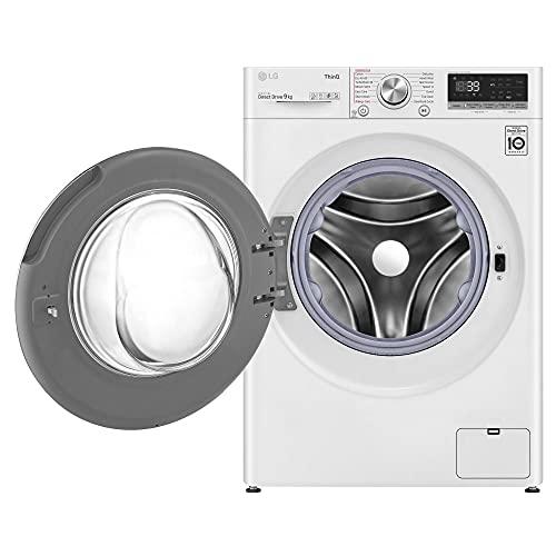 LG F4V909WTSE Freestanding Washing Machine 9L 1400RPM Wh