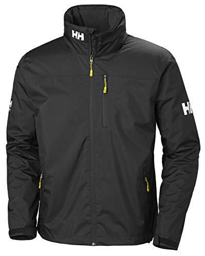 Helly Hansen Crew Hooded Midlayer - Chaqueta Impermeable, Cortavientos y Transpirable, con Forro Polar y Capucha Integrados, Hombre, Negro (990 Black), L