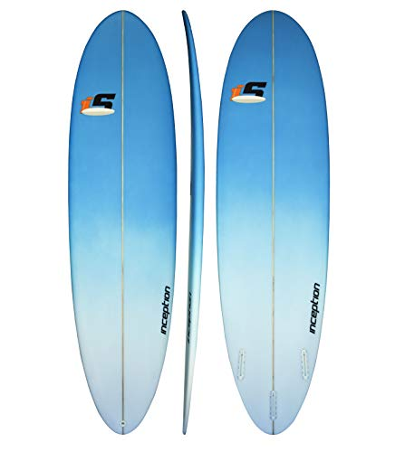 ECS Boards – Inception Fun Board – Shortboard Surfing Board for Longboarders - 7'0 - Blue