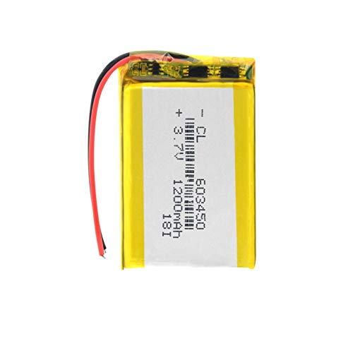 3.7V 1200mAh 603450 batería Recargable de polímero de Litio Módulo PCB Incorporado para MP3 MP4 GPS DVD Luz LED PSP grabadora de conducción