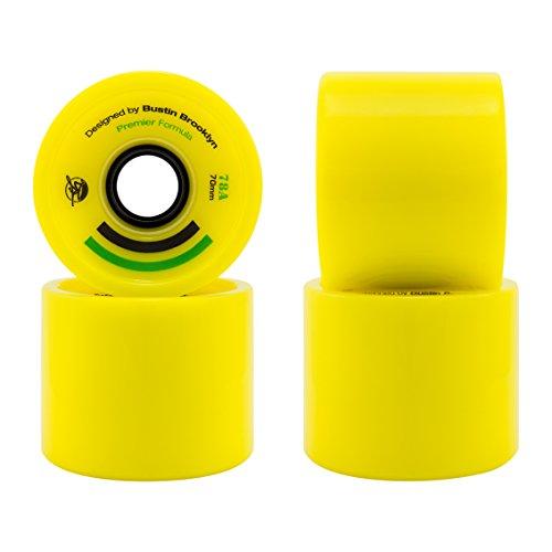 Bustin Wheels (Set 4). Ruedas Premier Yellow 70x54 78a