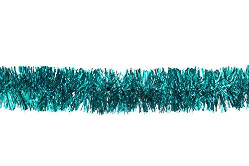 Butterfly Weihnachtsgirlande Lametta 5cm x 3 Meter Lamettagirlande Baumgirlande Christbaumdeko, Farbauswahl: türkis
