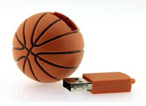 LÁPiz de Memoria Flash Usb 2.0, 16 Gb, DiseÑO en Forma de Pelota de Baloncesto