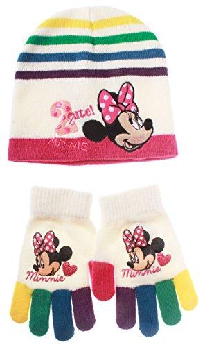 Bonnet et gants multicouleur enfant fille Minnie Ecru T54 (6/9ans)