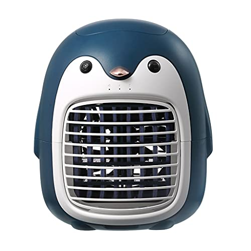 卓上扇風機 ペンギン 小型エアコンファンポータブル冷蔵庫オフィスデスクトップ小型クーラー家庭用動物スプレー加湿器 (Color : C, Size : 16.8*15.8*19cm)