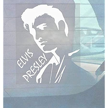 Elvis Presley Rock Singer Fun Window Bumper Sticker Vinyl Decal 9.3CM x 12.7CM