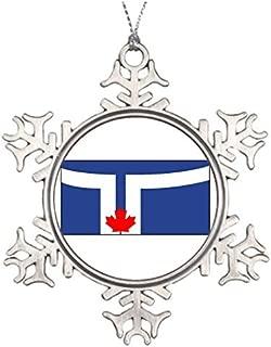 PotteLove Tree Branch Decoration Toronto Canada Pewter Snowflake Ornaments Hogtown
