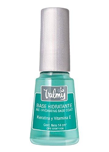 Valmy Base Hidratante para Uñas con Keratina y Vitamina E, Tratamiento de Esmalte Protector y Fortalecedor - 14 ml