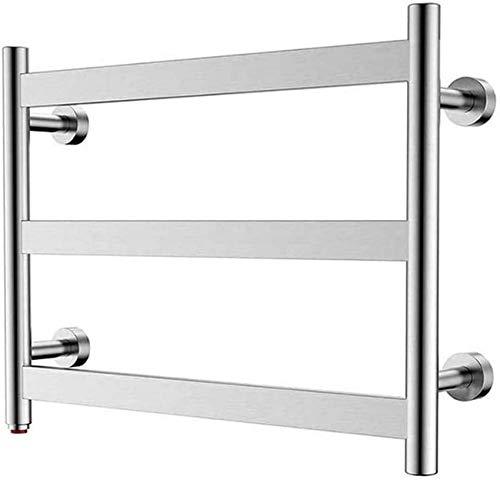 Toallero de baño, 3 barras planas, secado de pared, enchufable en la pared, calefactor de baño, pulido de espejo, protege durante este período especial, estante de secado con alambre duro.