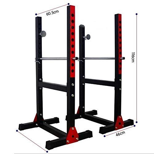 Cages de squat Barre de Traction Banc de Presse Porte-haltères de Fitness pour Hommes Étagère...