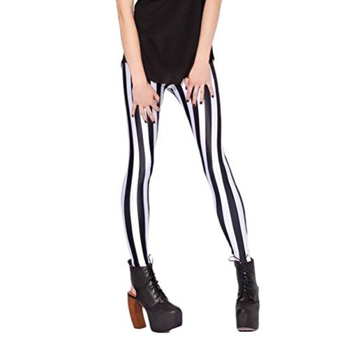BOLAWOO Pantalones Mujer Elegante Tallas Grandes Moda Rayas Leggins Casual Mujeres Deporte Leggings Fino