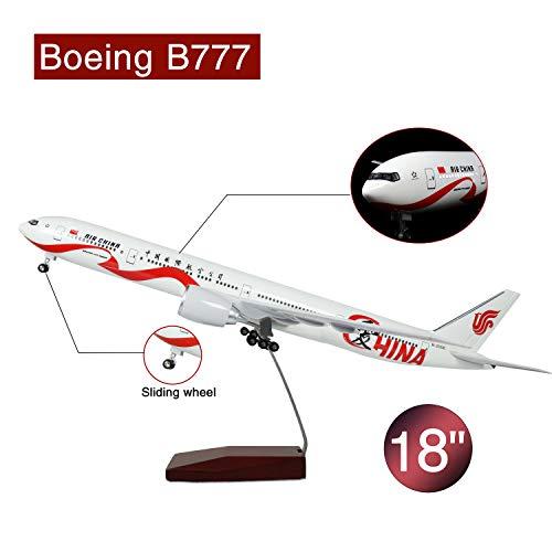 Lose Fun Park 46cm LED-Beleuchtung 1:130 Modellflugzeug China Love Boeing 777 mit Fahrwerk Flugzeug Geschenk oder Deko