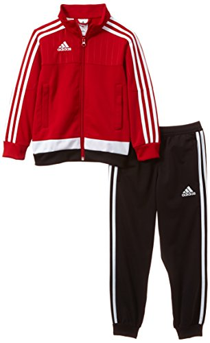 adidas Kinder Sportanzug Tiro15 pes su y Trainingsanzug, Power Red/White/Black, 152