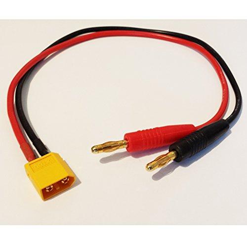 MR-Onlinehandel ® XT60 Ladekabel mit 4mm Bananenstecker 14AWG Silikonkabel 30cm
