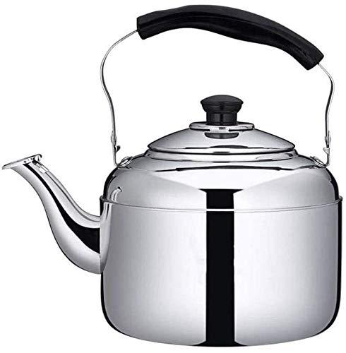 Bouilloire induction 304 en acier inoxydable bouilloire 5Lmodern Whistling Stovetop Théière grande capacité Scalding poignée de cuisson à induction Cuisinière à gaz WHLONG