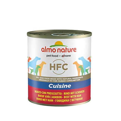 almo nature HFC Cuisine - Manzo con Prosciutto - Umido Cane 100% Naturale - 12x290 g lattina