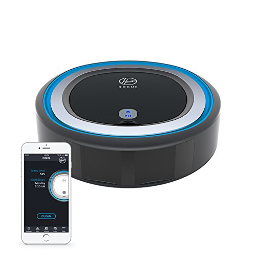 Hoover Rogue 970 Wi-Fi Connected Robotic Vacuum, Black, Blue