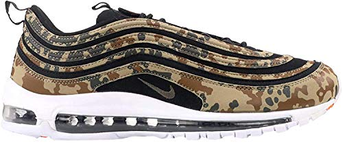 Nike Air Max 97 Premium QS Schuhe Sneaker Neu Unisex (EU 36 US 4 UK 3.5, Bamboo/Black-Dk Khaki-Sequoia)
