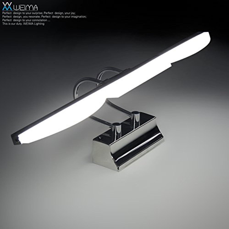 StiefelU LED Wandleuchte nach oben und unten Wandleuchten Anti-fog-wasserdicht Glas Front LED Badezimmer Schlafzimmer Wandleuchten Spiegel, 41 CM - LED-gelbes Licht