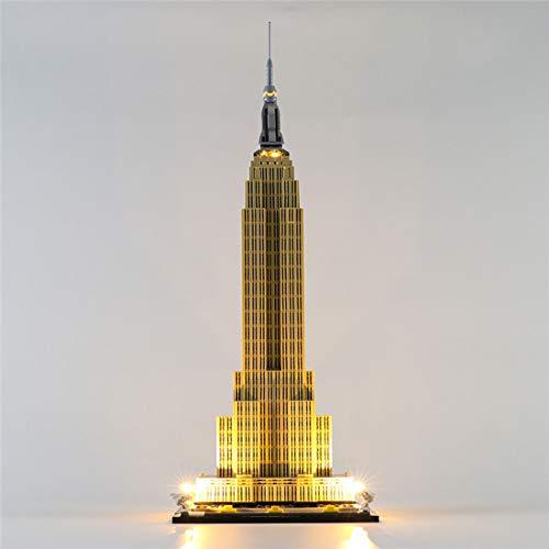 Seasy Juego de iluminación LED para construcción de Lego Architecture Empire State Building, compatible con Lego 21046 (sin set Lego)