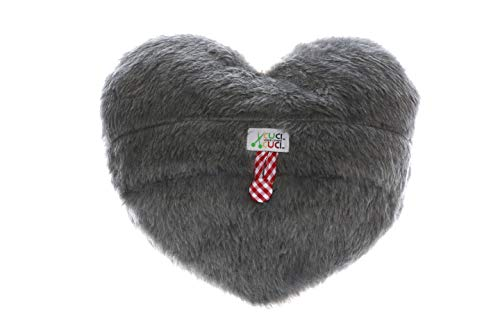 CuciCuci Herzkissen in grau zum selber Nähen DIY Schnittmuster Kuschelkissen Plüsch Geschenkidee Hegri