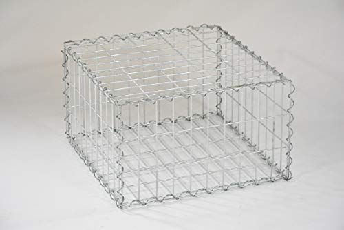 Zaun-Nagel Gabionenkorb, 50 x 50 x 30 cm, Gabione, Gabionen, Steinbox, Raster ca. 50 x 50 mm HD