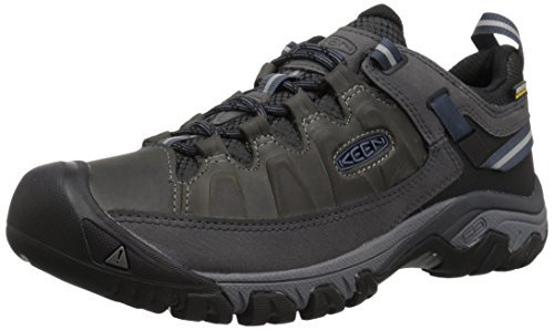 KEEN mens Targhee Iii Wp Hiking Shoe, Steel Grey/Captains Blue, 10 US