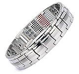 FLMG Artful Titanium Magnetic Bracelet For Men In Fashion Style 4 Colours (UBK)