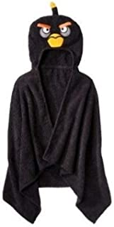 Angry Birds Black Hooded Towel