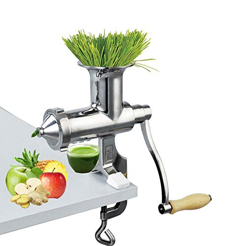 TINGS Stainless Steel Wheatgrass juicer Manual Auger Slow Squeezer Fruit Wheat Grass Vegetable orange Juice Extractor
