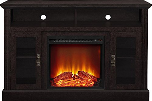 Ameriwood Home Chicago Electric Fireplace TV Console for TVs up to a 50, Espresso