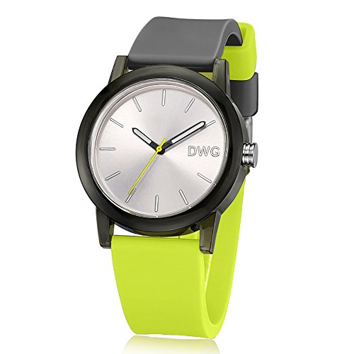 DWG Fashion Watch with Silicone Strap Waterproof Sport Watch (Mixed Color) Comfortable Wear for Men and Women