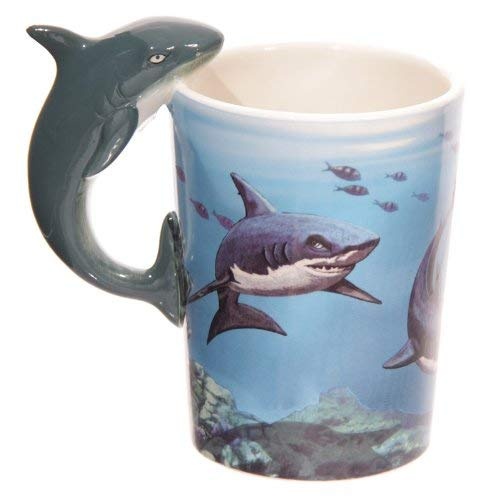 Puckator Lisa Parker Shark Handle Ceramic Mug in Matching Gift Box, Mixed, Height Width 12.5cm Depth 8.5cm