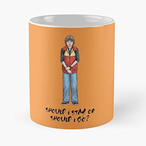 Should I Stay Or Go Classic Mug -11 Oz Coffee - Funny Sophis