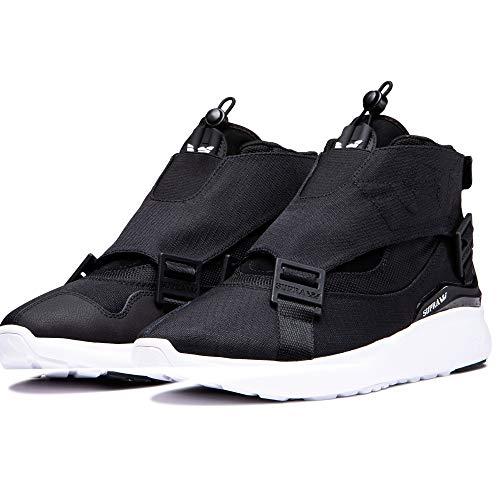 Supra Men's Skateboarding Shoes, Black Black Dk Grey White M 42, 9 UK