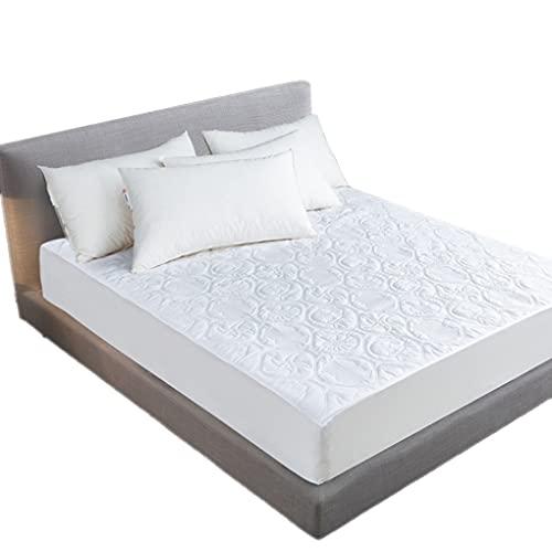 Guangcailun Impermeable y transpirable Protector de colchón de ca de algodón cubierta del cojín de protección Mat, completa 54x76 + 18 pulgadas