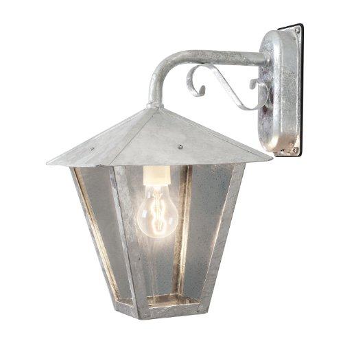 Laterne Konstsmide Benu Wandleuchte - Farbe: Metallisch,rostfarben - Material: Glas,Stahl - Fassung: E27 Leistung: max. 100W Schutzart: IP23 - Maße: Höhe: 43 cm Breite: 26 cm Tiefe: 32 cm - Kein Leuchtmittel inklusive - Diese Leuchte ist geeignet für Leuchtmittel der Energieklassen A++,A+,A,B,C,D,E.