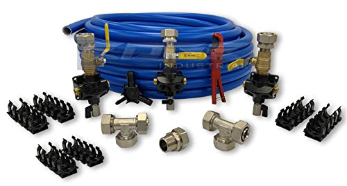 """MAXLINE COMPRESSED AIR TUBING MASTER KIT, 1"""" BENDABLE TUBING (M6580V, 300FT WITH SHUT OFF)"""
